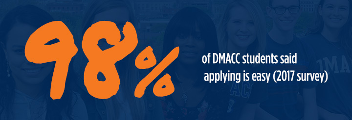 Applying to DMACC is easy.