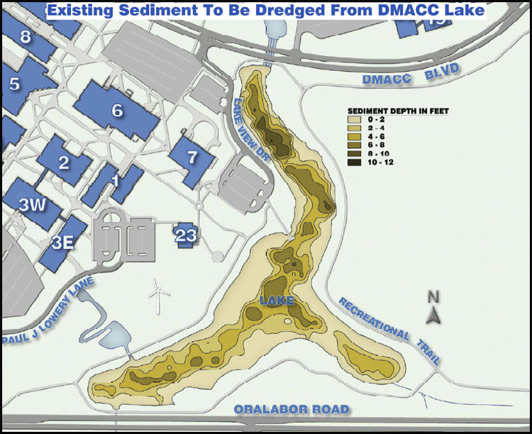2012 Lake Dredging Project :: DMACC Ankeny Campus