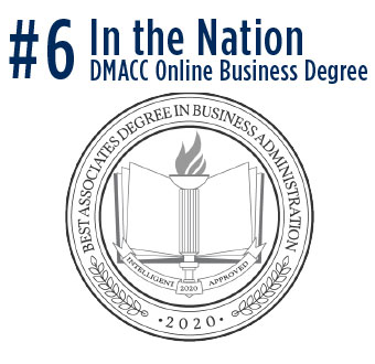 #6 in the Nation - DMACC Online Business Degree, Best Associates Degree in Business Administration, 2020