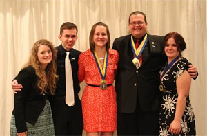 2014 All Iowa Banquet, Carroll members.
