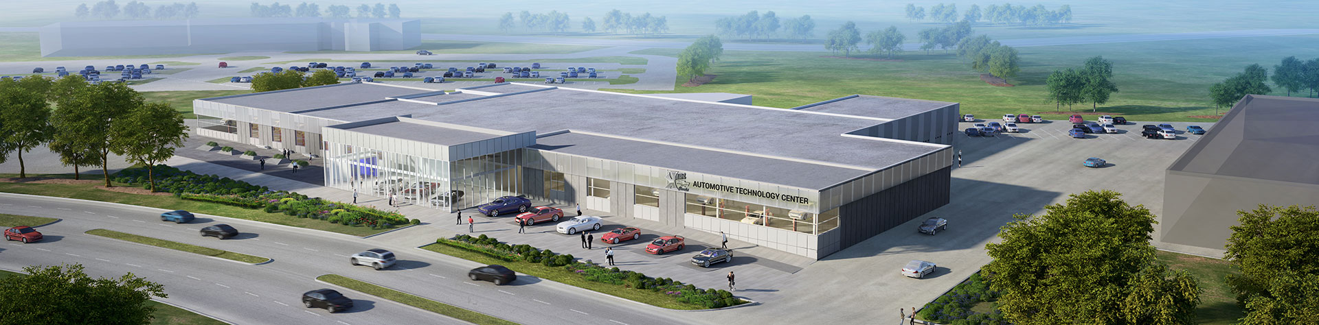 Renderings of the New Automotive Technology Center