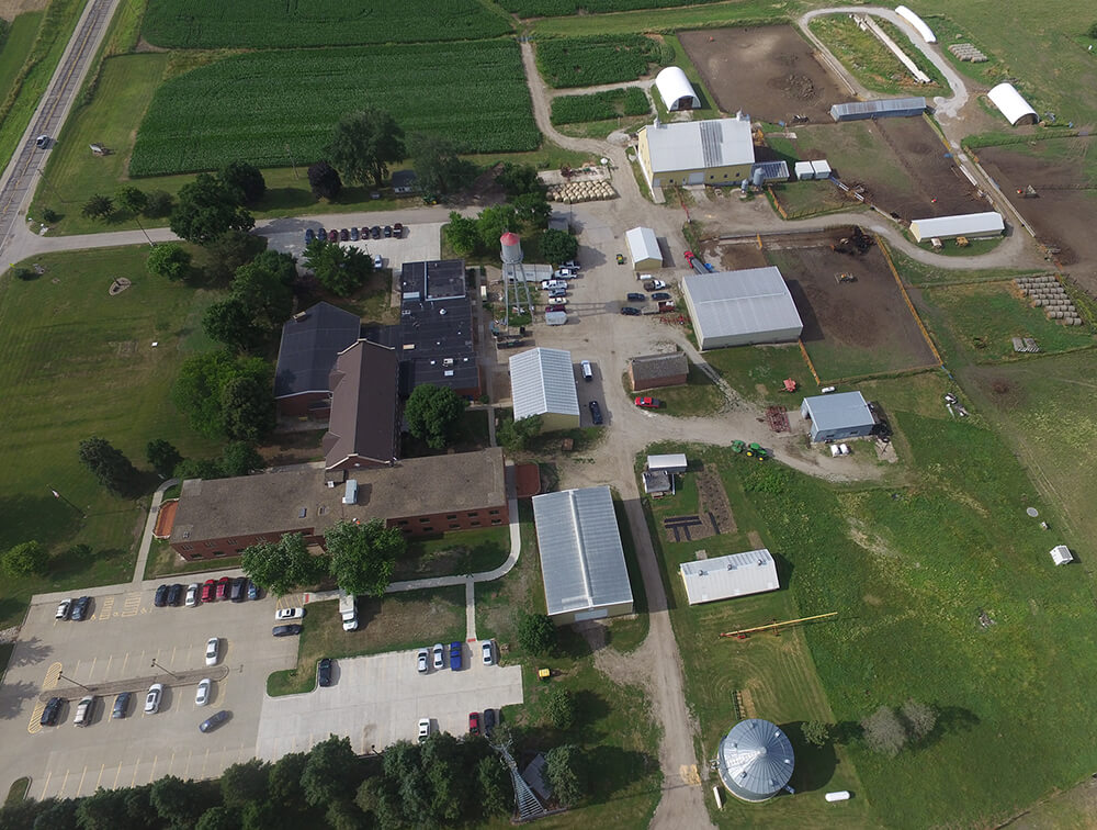Aerial view of DMACC Farm