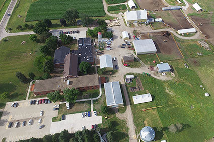 Aerial view of DMACC Dallas County Farm