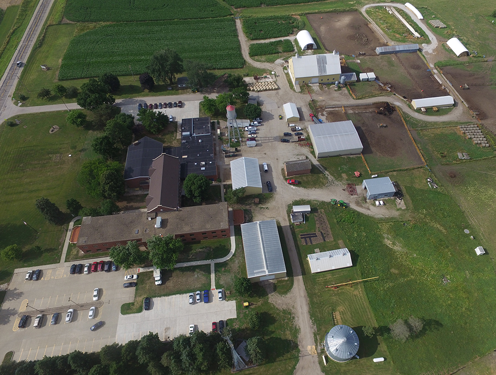 arial picture of DMACC farm