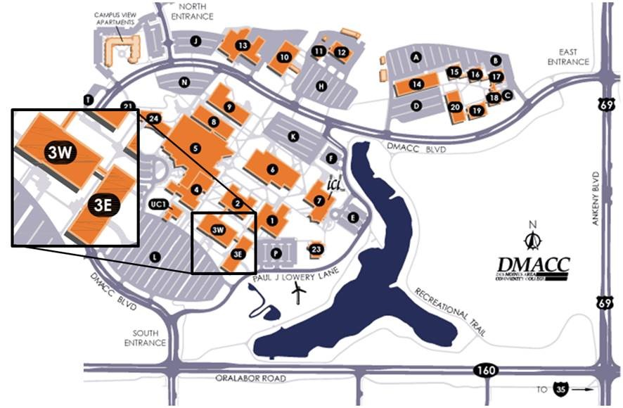 Dmacc Ankeny Campus Map Directions to Tool & Die Building