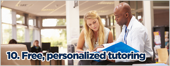 10. Free, personalized tutoring.