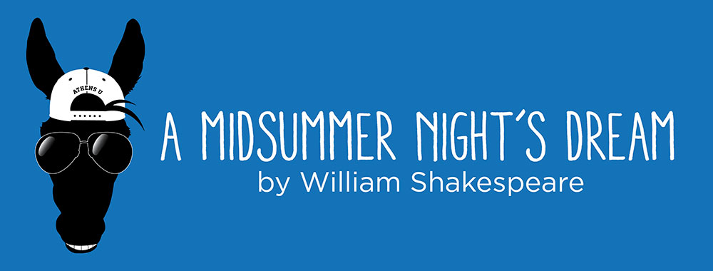 A Midsummer Night's Dream by William Shakespeare - image of a horse head wearing sunglasses and a backwards baseball cap